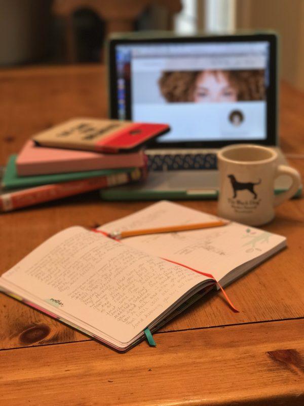 journal, writing, pencil, coffee, laptop, books, reading