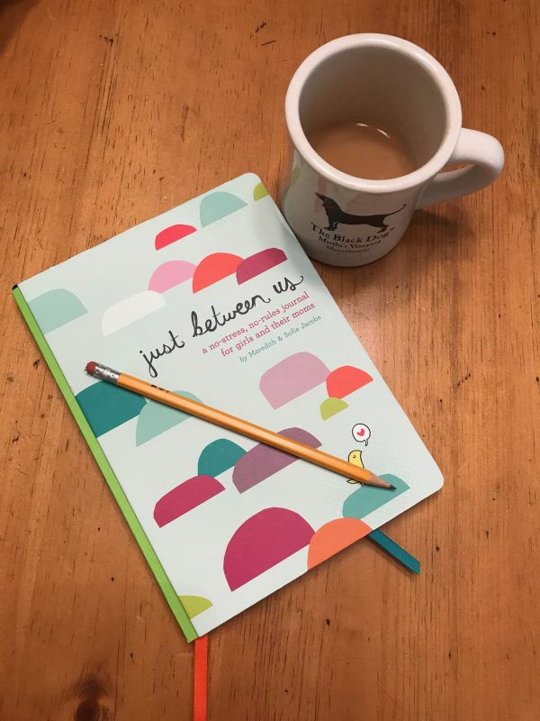 journal, coffee, mother, daughter, just between us, private, writing