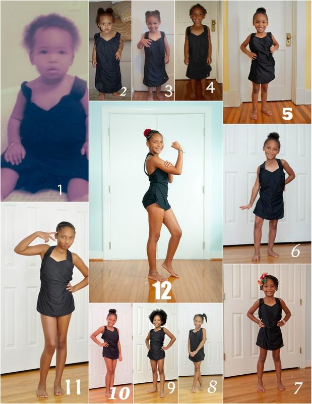 collage, twelve, birthday, bathing suit project