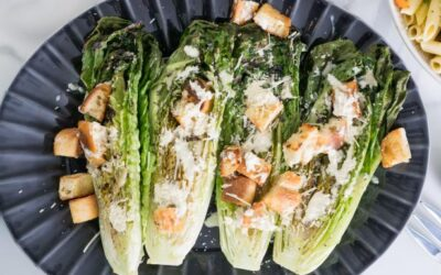 Grilled Cesar Salad With Tofu