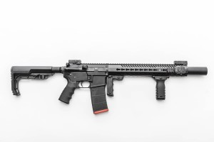 Mission First Tactical TEKKO Metal AR 13-5 Free Float KeyMod Rail System Mounted