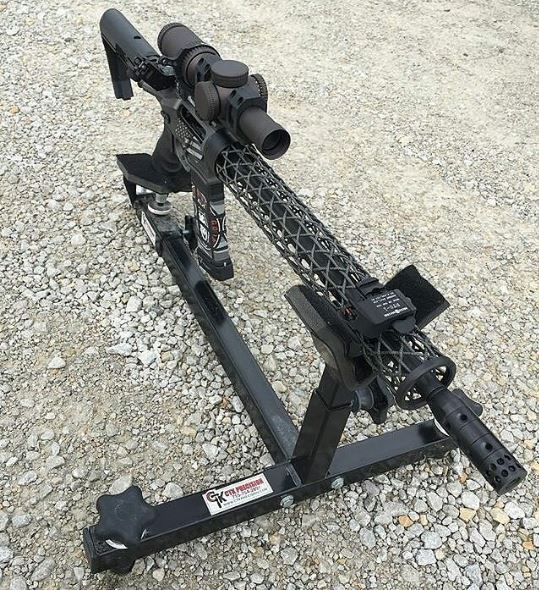 AR-15 Rifle from P3 Ultimate Shooting Rest