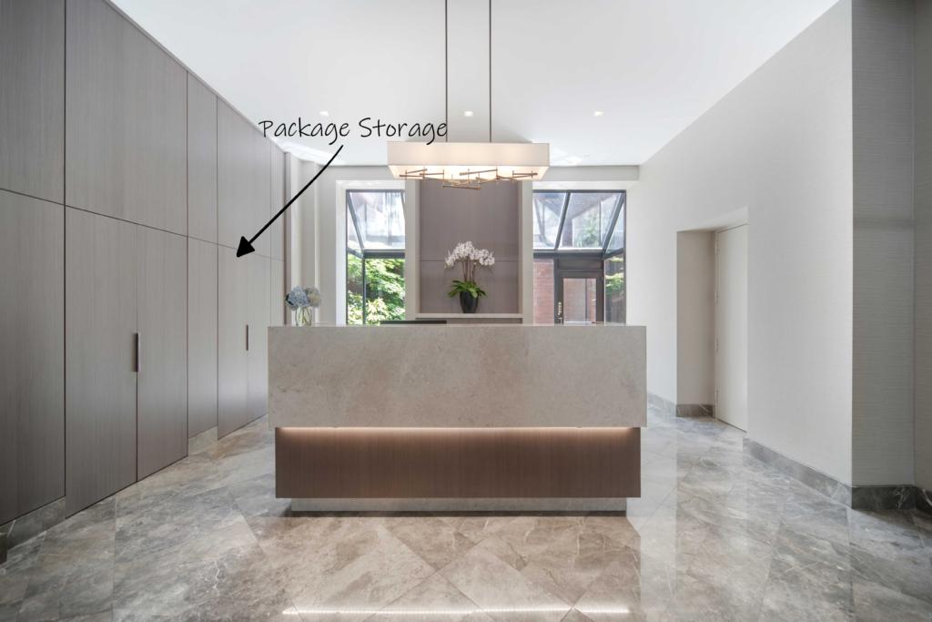 Yorkville Lobby Package Storage Design