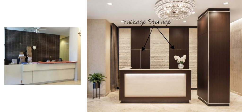 Brooklyn Lobby Package Storage Closet Design