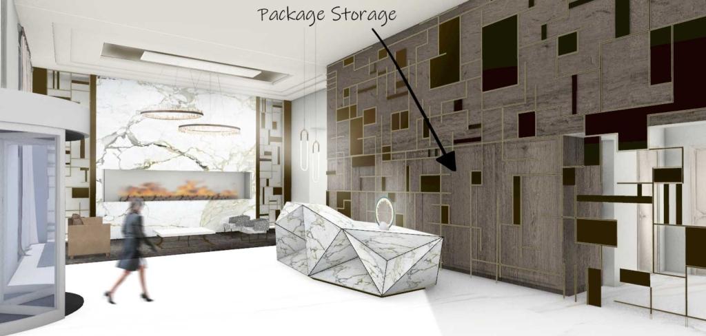 New York Financial District Hidden Package Closet