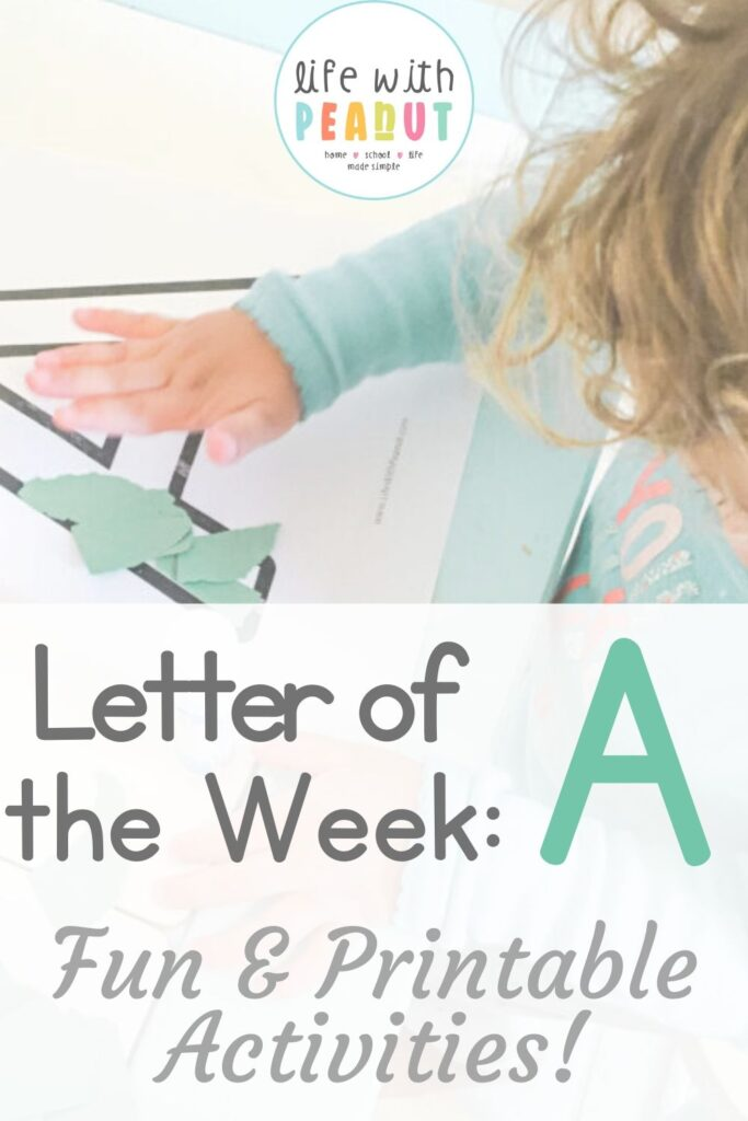"""Learning your letters for the first time, isn't always easy for a toddler, preschooler, or even kindergartener! But these fun """"Letter of the Week"""" activity printable packs are perfect for helping kids have a blast working on their letters. Worksheets, games, activities, and more!"""