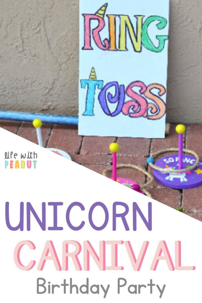 My daughters both wanted a rainbow, unicorn, carnival birthday party! What else could you want? Here are the perfect ideas for carnival games, rainbow decorations, unicorn cakes, and much more! See all the decor we used and the food we served for this multi-themed party!