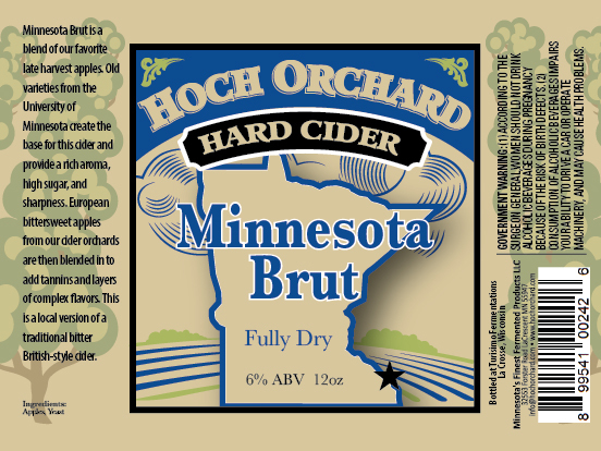 """Turisimo Fermentations Releasing """"Minnesota Brut """" A New Cider from Hoch Orchard Hard Cider"""