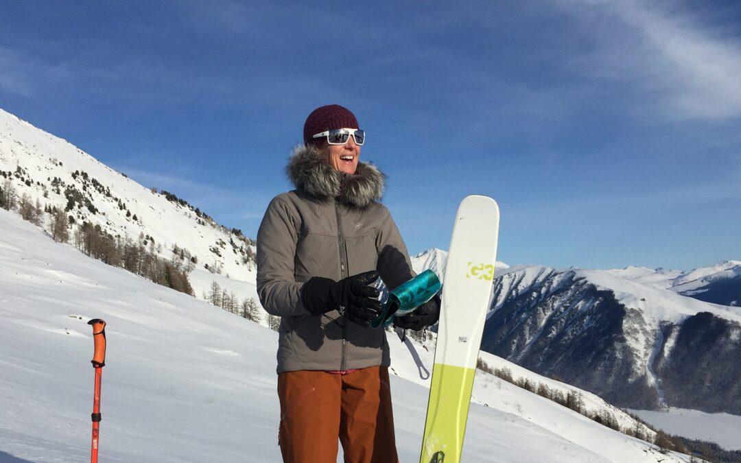 Laura Skinning Up China's Altai Mountains