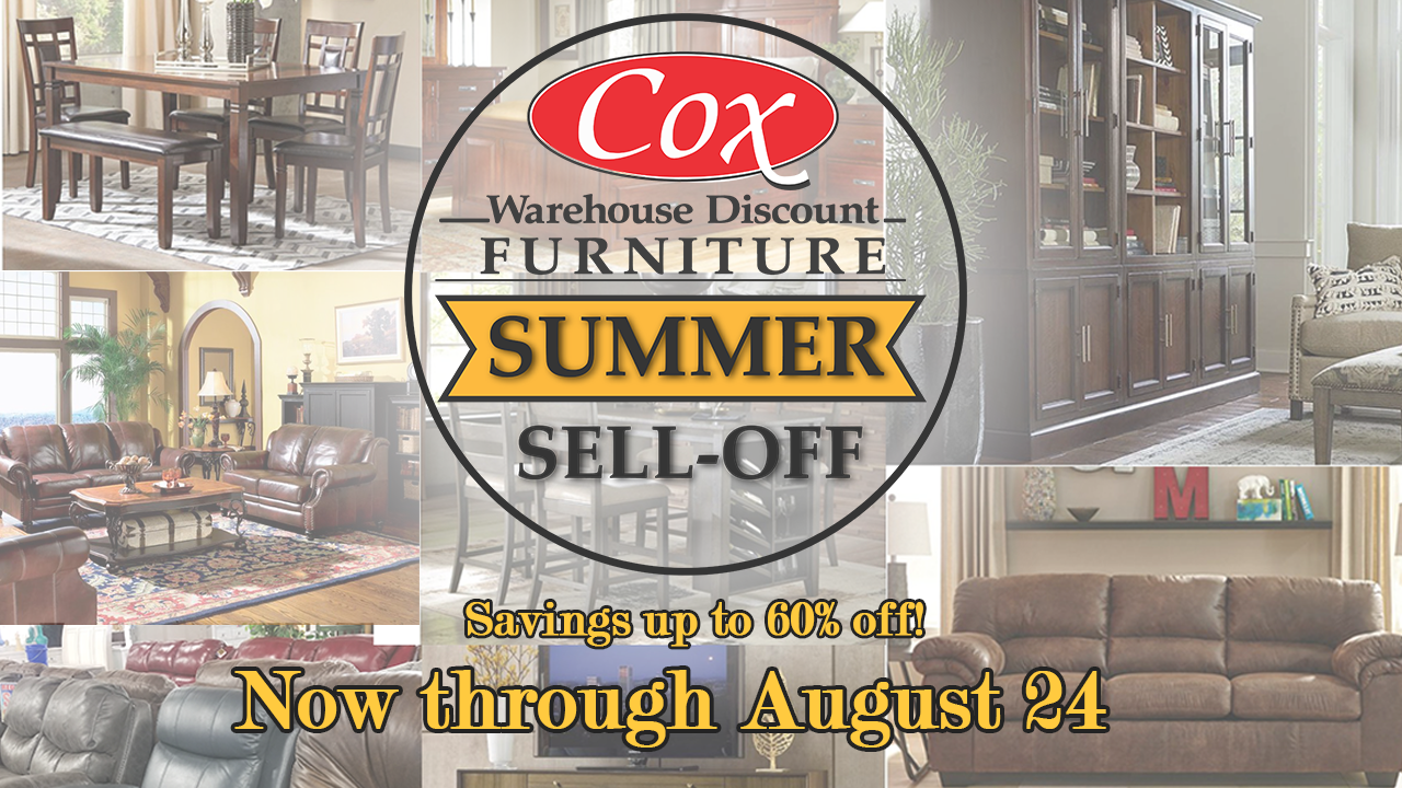 Cox Furniture Summer Sell-Off Website Graphic designed by Pioneer Strategies