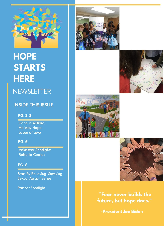 Hope Starts Here Newsletter (April 2021)
