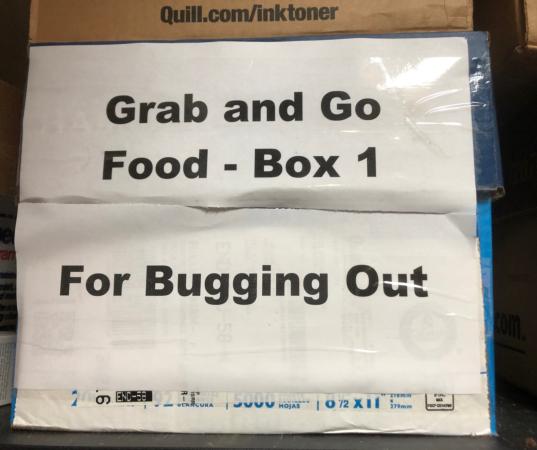 Bugout Food