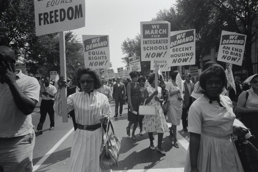 Civil Rights Marchers in 1963