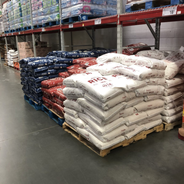 a pallet of rice
