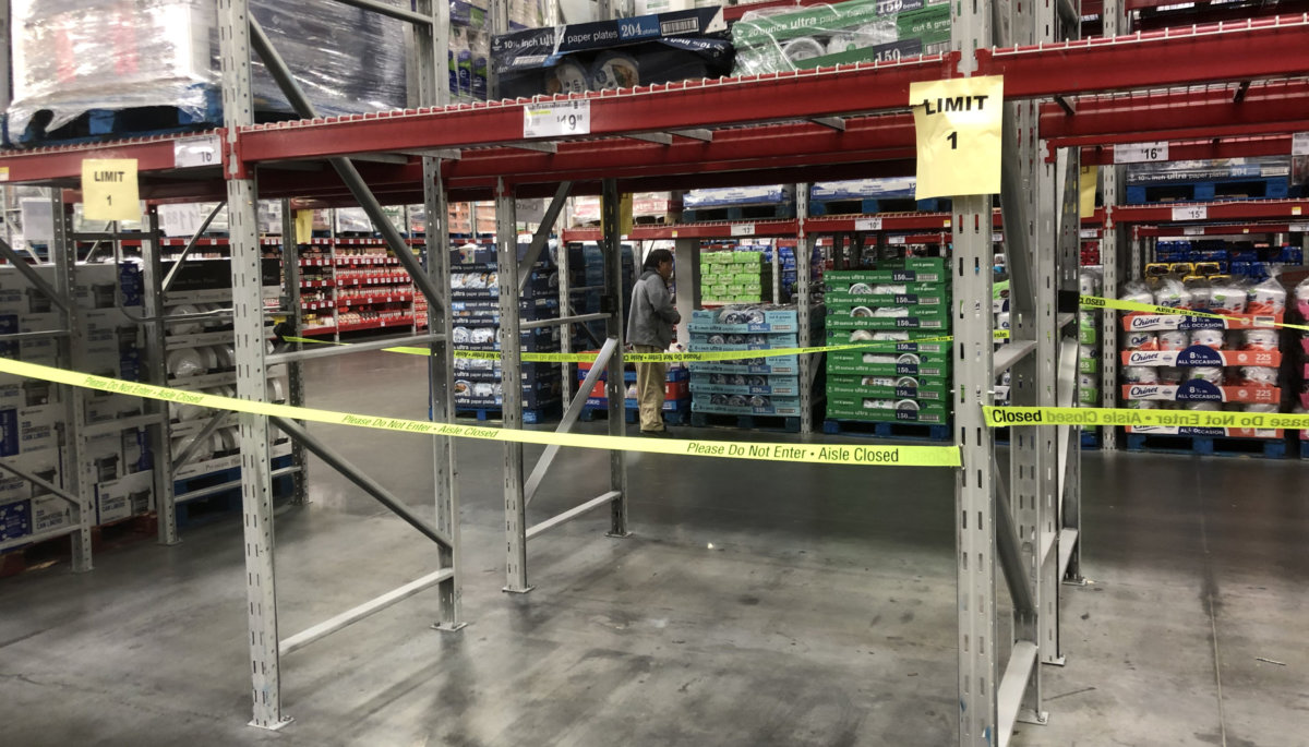 Sam's Club is out of paper prroducts