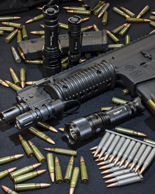 Multiple Powertac flashlights