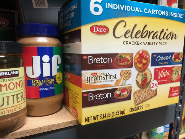 Crackers and peanut butter from Costco