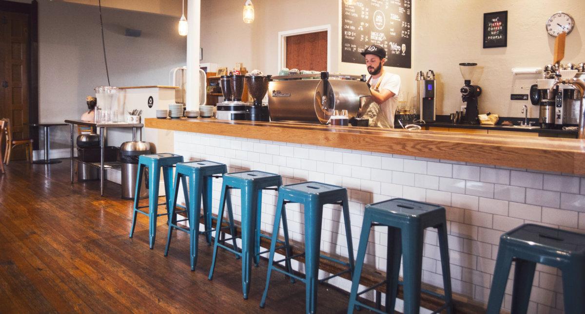 empty coffee shop, Photo by Matt Hoffman on Unsplash