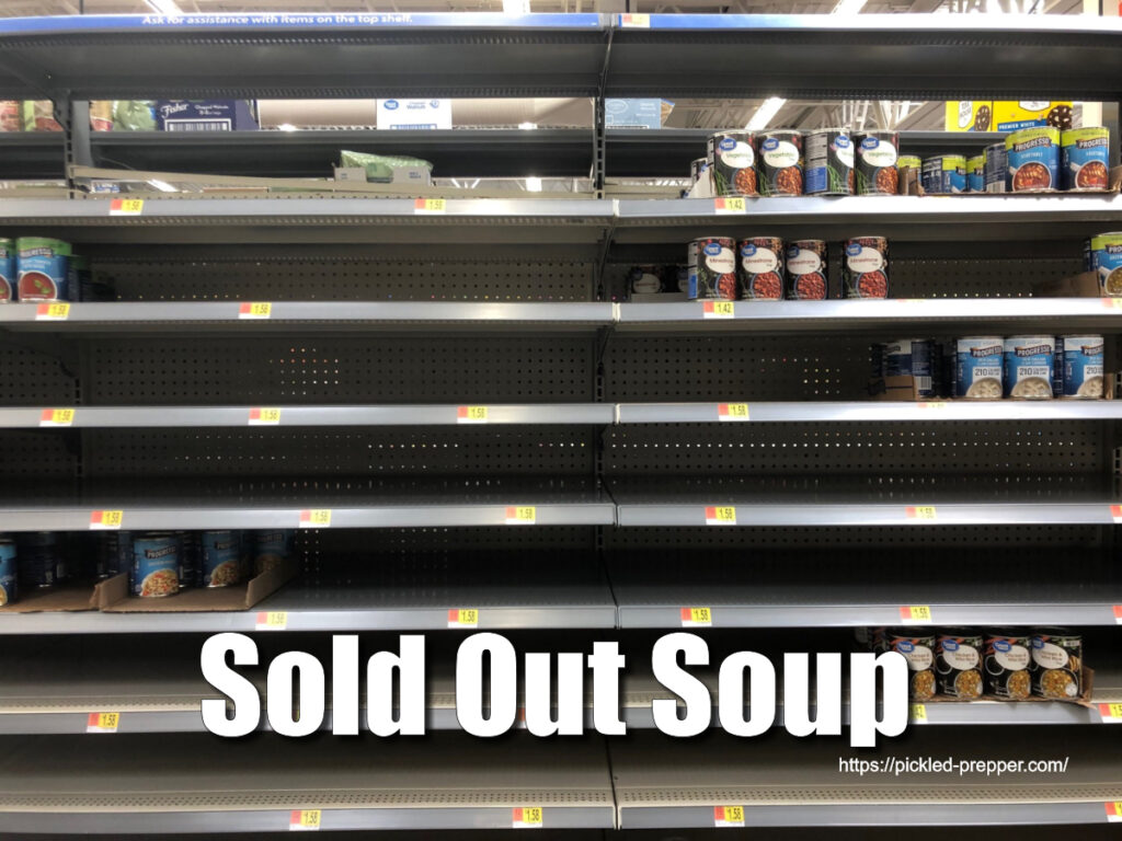 Sold out soup