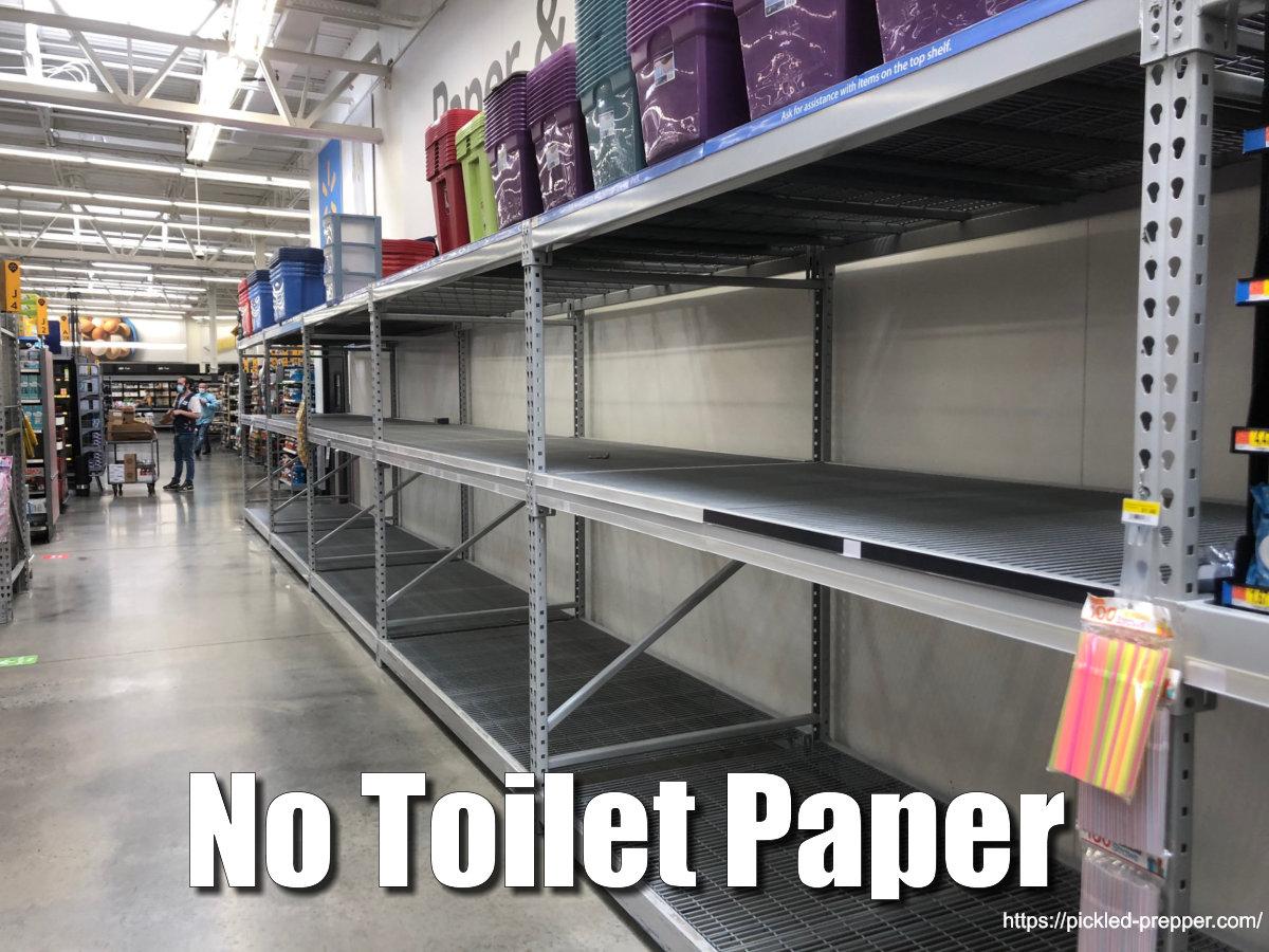 No Toilet paper at Walmart on 5/28/20