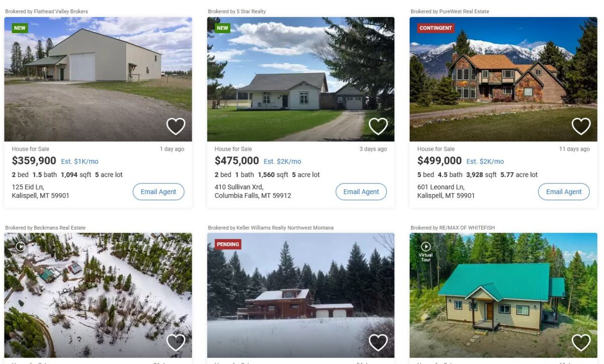 Real estate listings from realtor.com