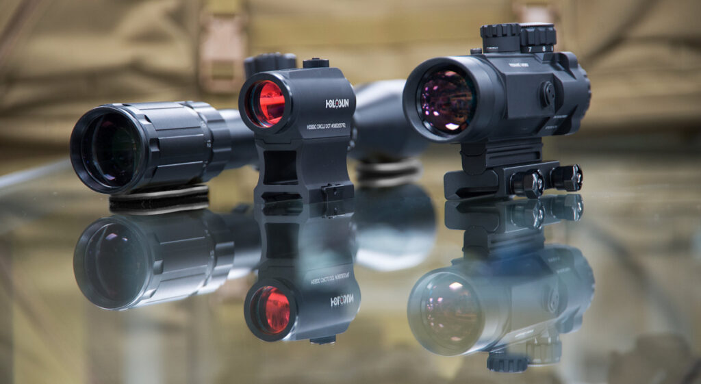 Red dot optics and a scope