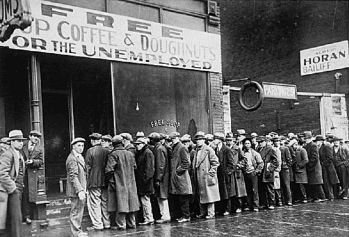 A soup kitchen during the great depression