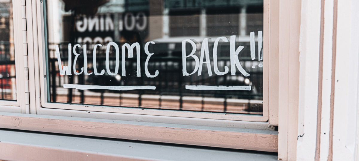 Welcome back sign in store windwo. Photo by LOGAN WEAVER on Unsplash