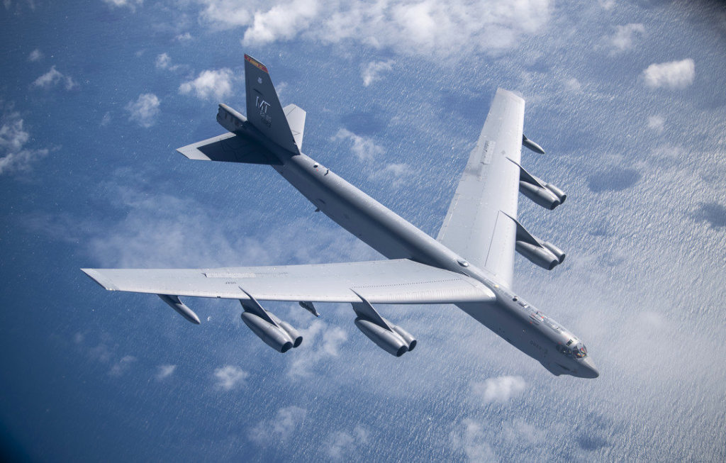 The B52 Stratofortress. Photo by Tech. Sgt. Emerson Nuñez.