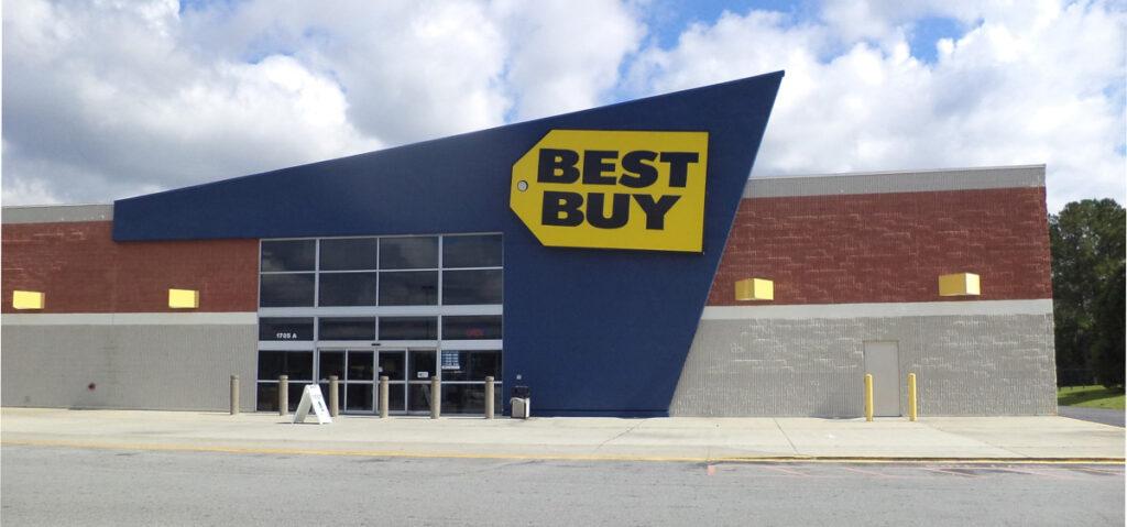 A best buy store. A Best Buy store in Valdosta Georgia. Photo by Michael Rivera via wikimedia.