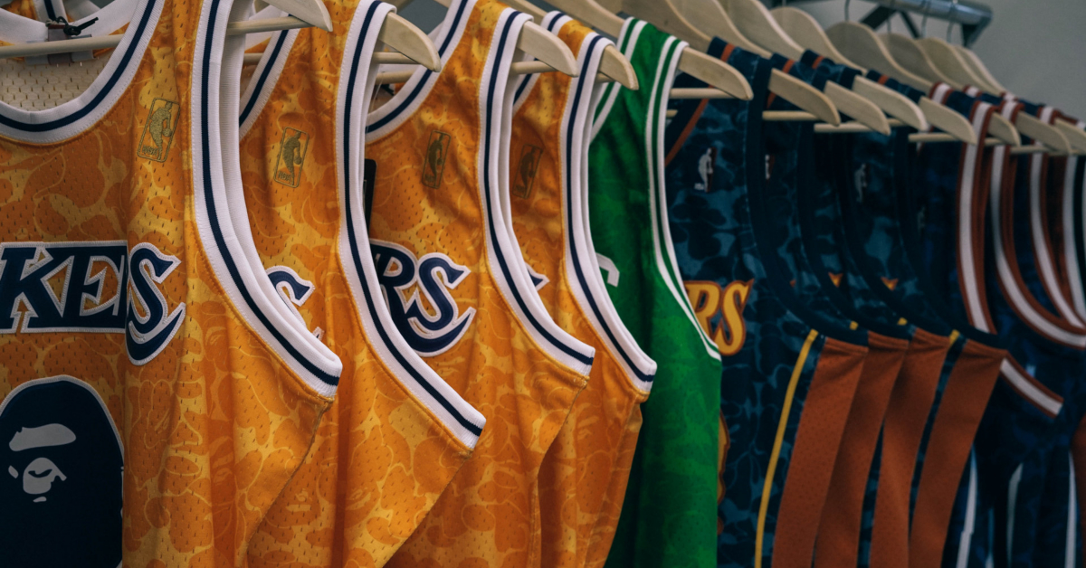 NBA Jerseys. Photo by Alex Haney on Unsplash