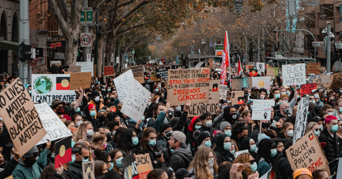 BLM protests fill the streets. Photo by Tony Zhen on Unsplash