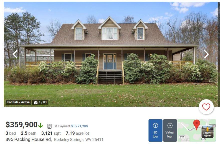 A house listing on Realtor.com