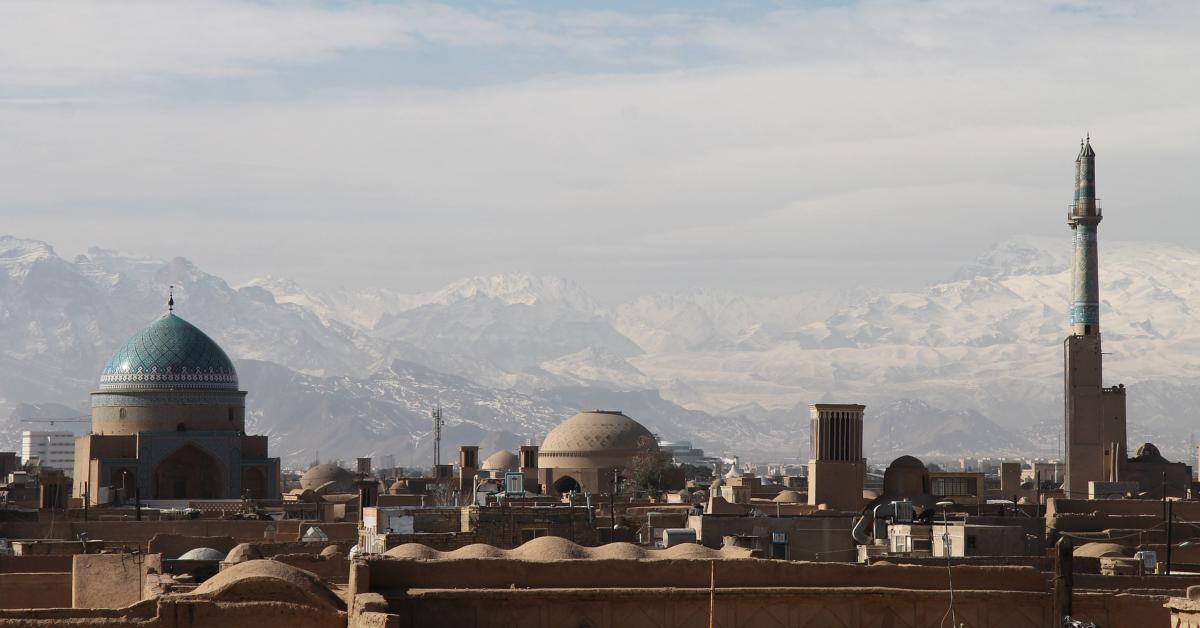 Roof tops in Iran