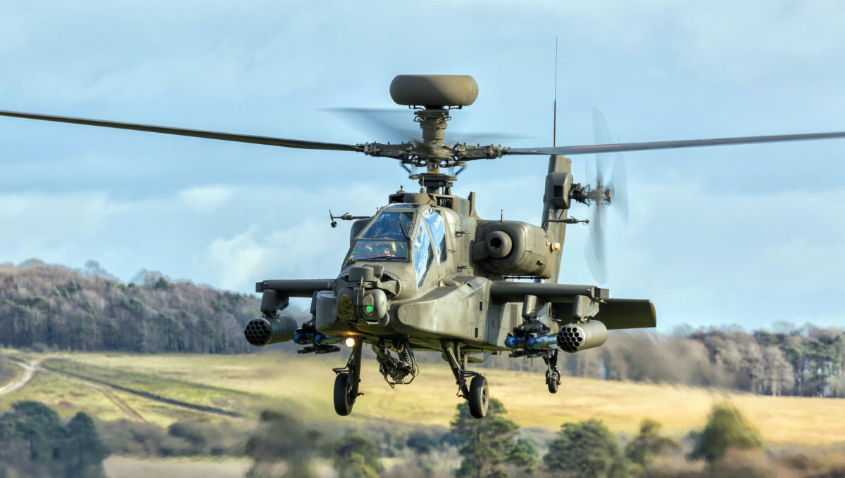 An Apache Longbow helicopter
