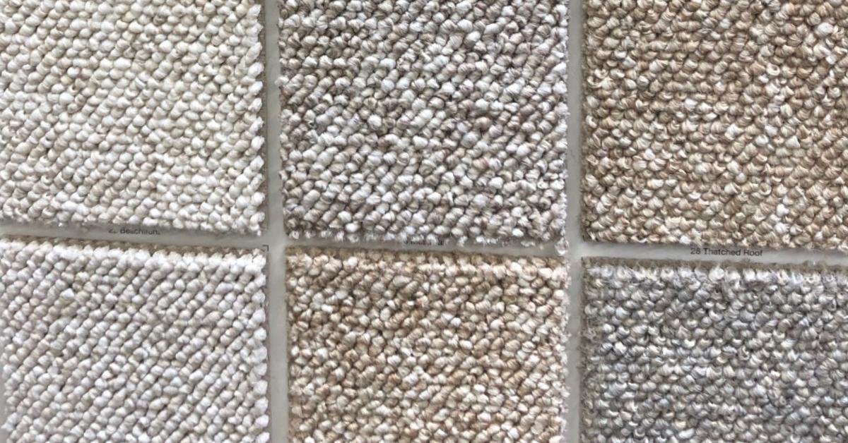 Samples of carpet color