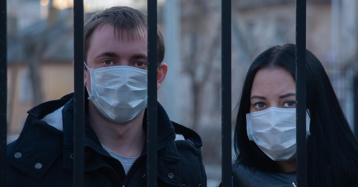 COVID-19 mask wearers on lockdown.