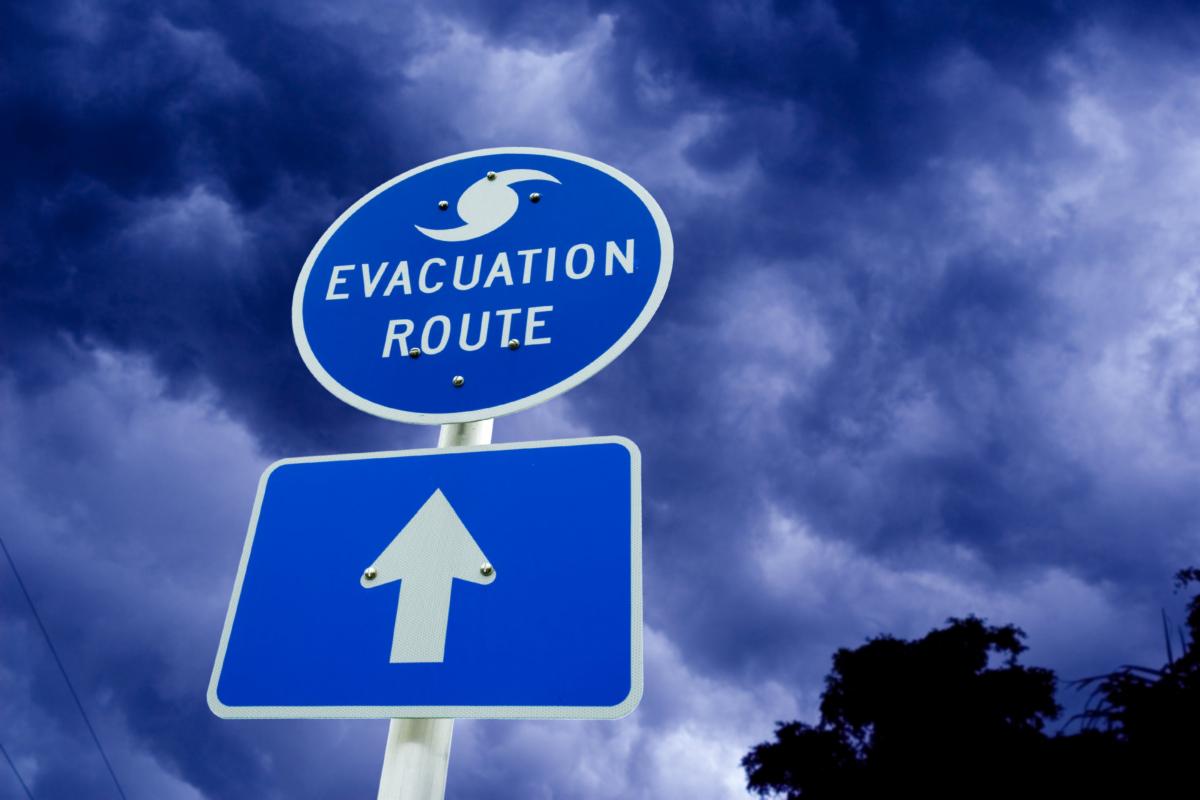 Hurricane evacuation route signage