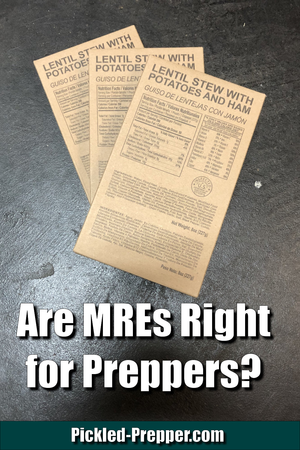 How Preppers Should use MREs in a Food Storage Plan