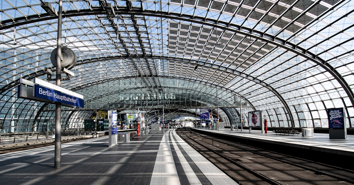 COVID-19 has emptied out train stations in parts of Europe
