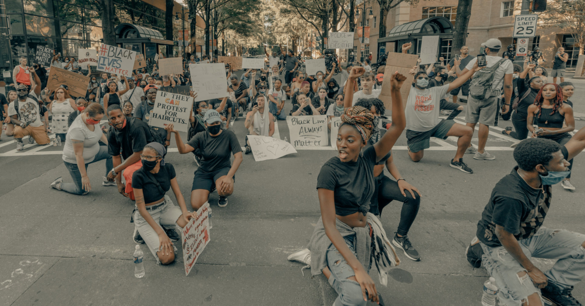 BLM protests in Charlotee. Photo by Clay Banks on Unsplash.