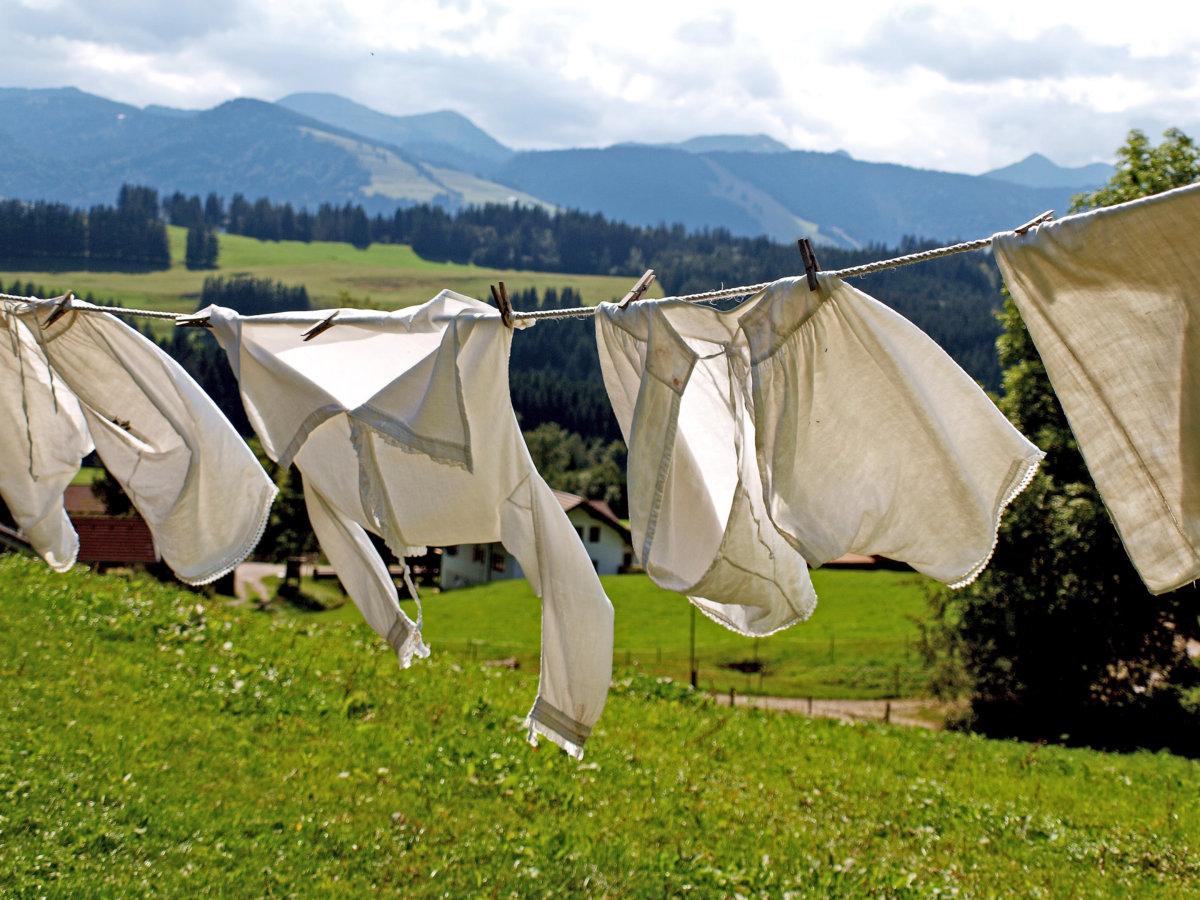Laundry on a clothesline