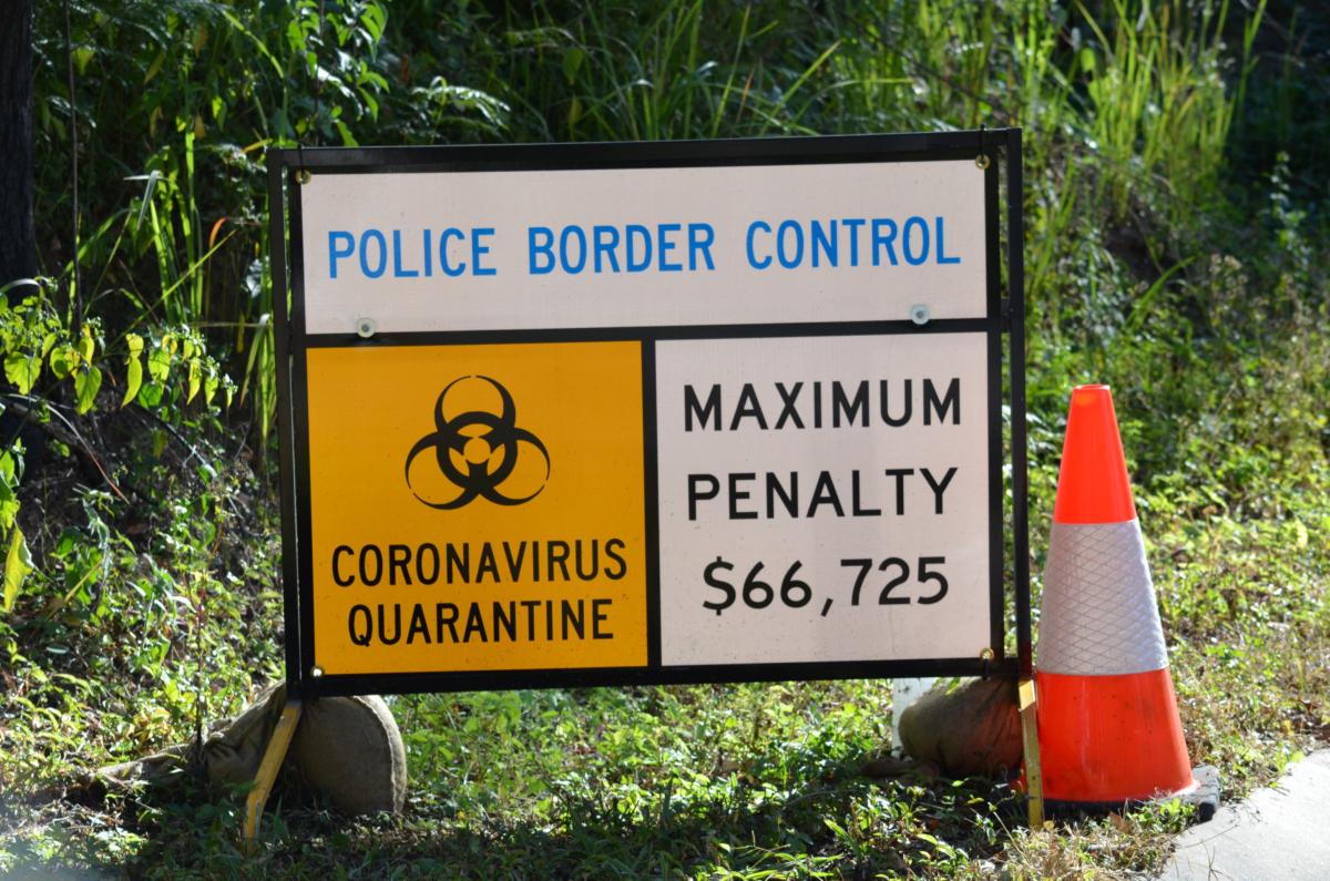 Coronavirus quarantine sign. Photo by Timo Hartikainen on Unsplash
