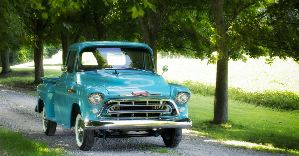 An old Chevy pickup truck