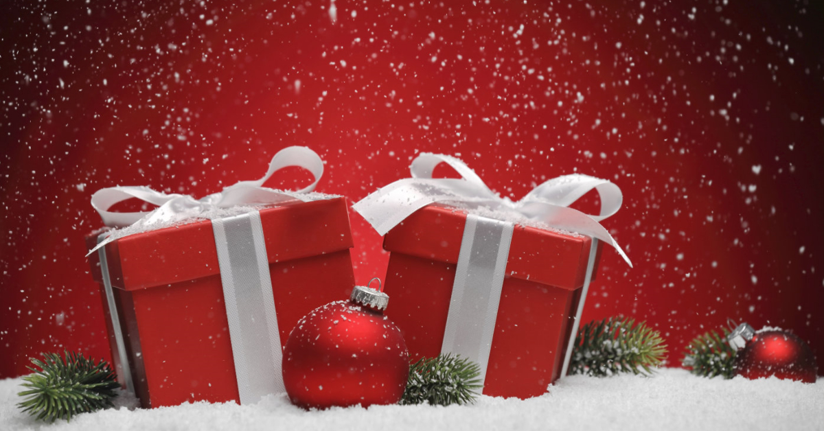 Two wrapped presents