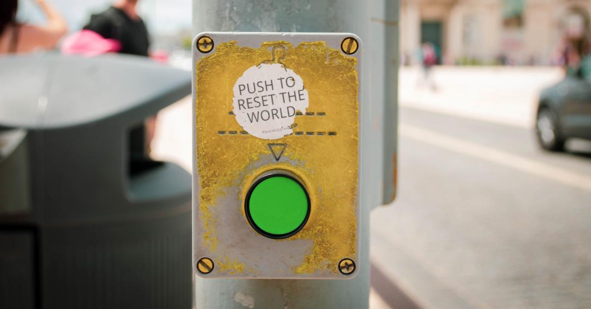 The great reset button. Photo by Jose Antonio Gallego Vázquez on UnSplash