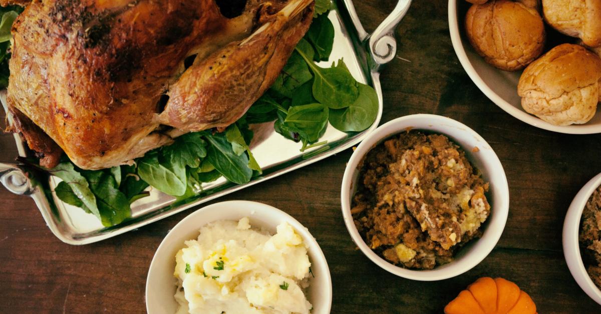 Thanksgiving turkey dinner. Photo by Pro Church Media on Unsplash.