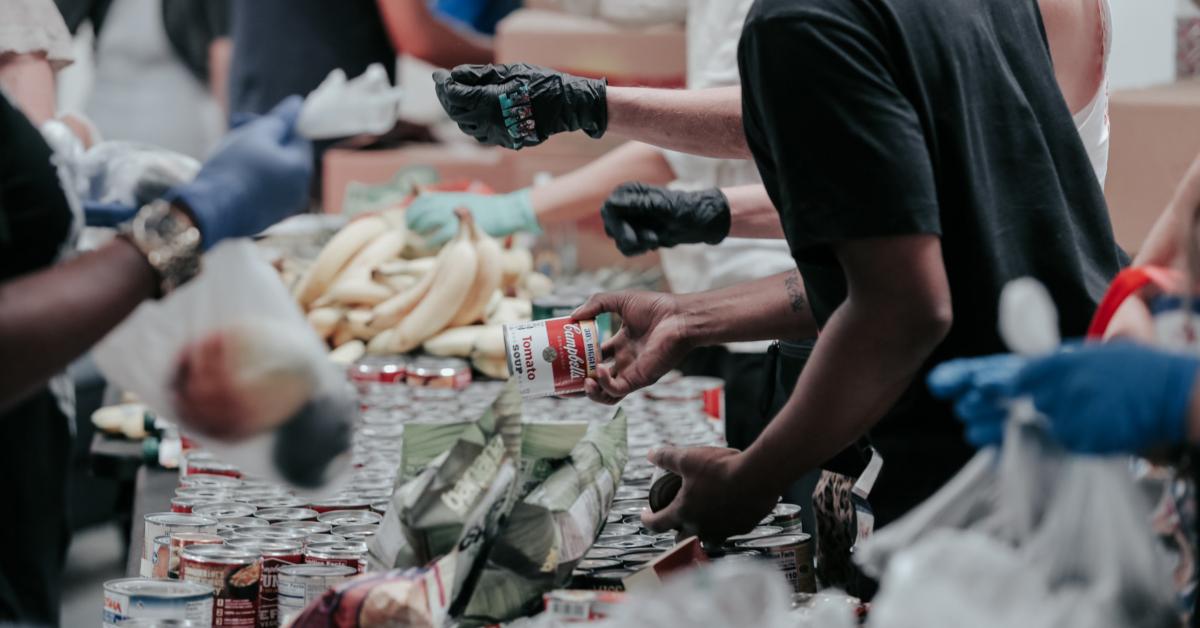 Food bank visitors. Photo by Joel Muniz on Unsplash