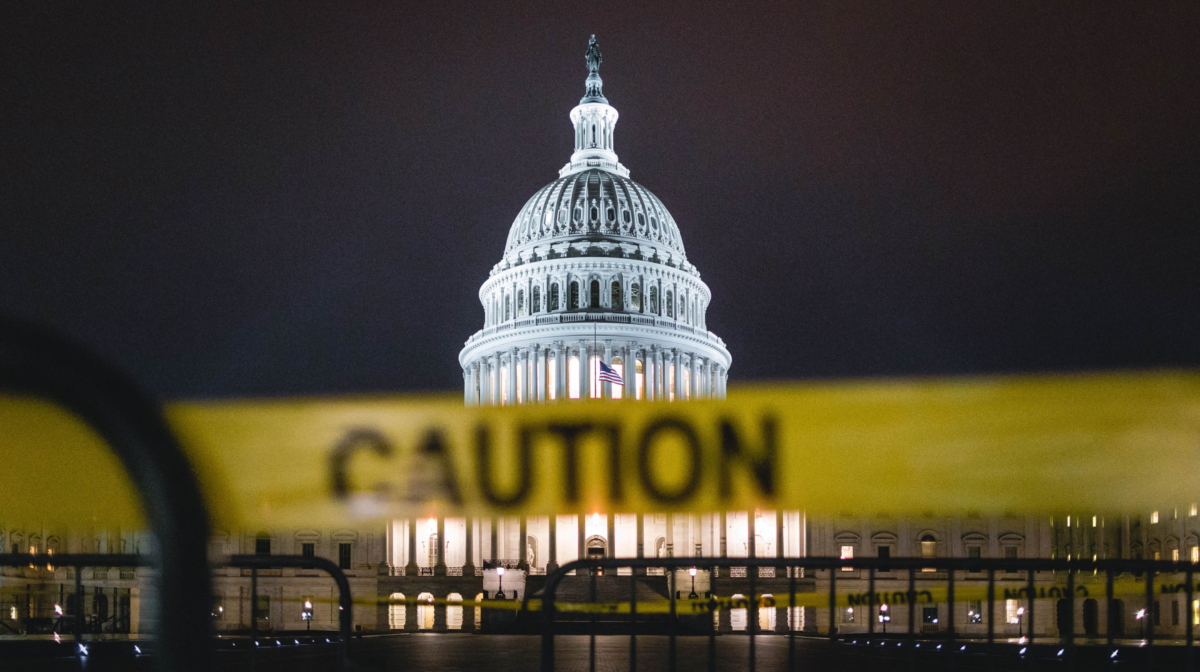 Caution tape at the U.S. Capitol. Photo by Andy Feliciotti on Unsplash/