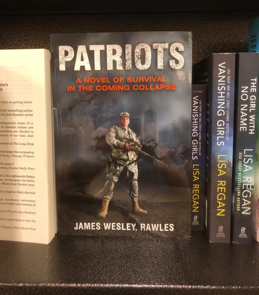 Patriots on sale at Borders.